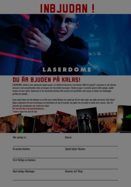 exempel på inbjudningskort laserdome